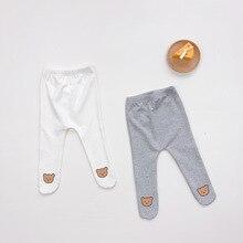 2021 New Baby Girls Boys Leggings Toddler Four Seasons Clothing Bear Print Long Pants Newborn Casual Cartoon  Pant for 0-2M