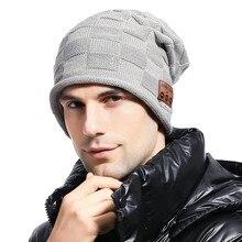 Практичная акриловая Беспроводной Bluetooth 5,0 Музыкальная гарнитура шляпа Динамик теплый вязаный свитер вязаная шапочка для бега Высокое каче...