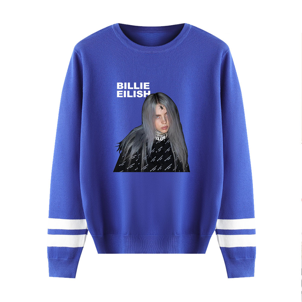 Billie Eilish Printing Sweaters Fashion Classic Sweater Men Women Casual Sweaters O-Neck Couples Sweaters Fall/Winter Pullovers