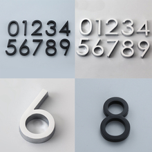 58 мм самоклеющиеся дверные номера номер дома 0-9 цифр для квартиры, отеля, офиса, почтового ящика, дверная пластина
