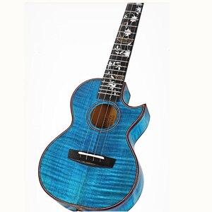 Image 2 - جيتار من Enya 26 بوصة القيثارة لهب القيقب 23 بوصة الأزرق القيثارة الحفل القيثارة هاواي الغيتار 4 سلسلة الآلات الموسيقية