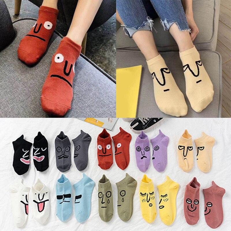 Korea Funky Harajuku Trend Women Colorful Funny Socks Girl Kawaii Socks Unisex Surprise Mid Women Socks