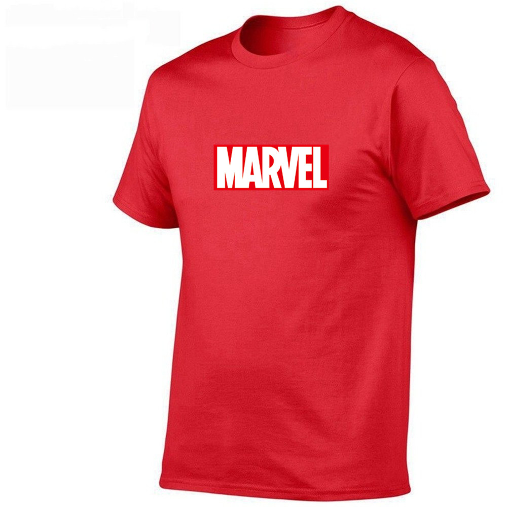 2020 Summer New Fashion T Shirt Mens Cotton T-shirts Tee Short Sleeve High Quality Boys Tshirt TOPS Navy Print MARVEL