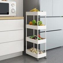 Storage Holders Racks Kitchen Refrigerator Clip Slot Corner Rack Floor Multi Layer Movable Vegetable Side Narrow