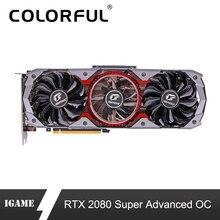 Bunte GeForce RTX 2080 Super Grafik Karte Erweiterte OC GPU GDDR6 8G iGame Video Karte Nvidia One key  übertakten RGB Licht