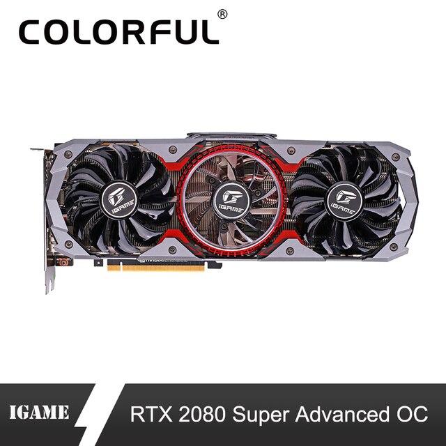 カラフルな GeForce rtx 2080 スーパーグラフィックカード高度な OC GPU GDDR6 8 グラム iGame ビデオカード Nvidia のキーオーバークロック RGB ライト