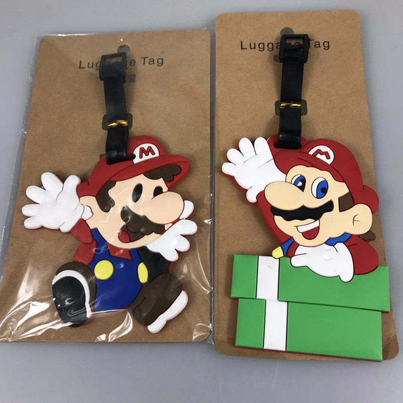 Anime Super Mario Luggage Tags Bag Travel Accessories