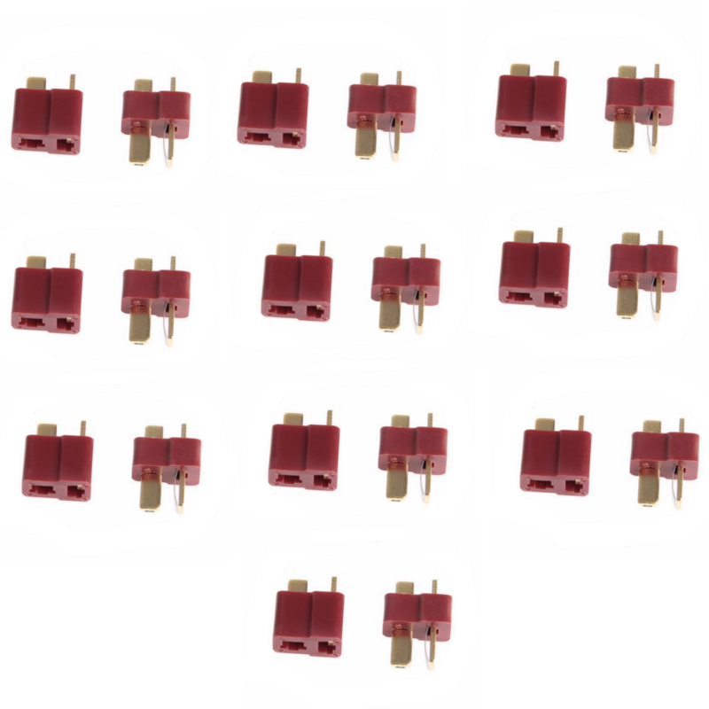 10Pairs 20PCS T Plug Male Female Deans Connectors For RC LiPo Battery RC FPV Racing Drone