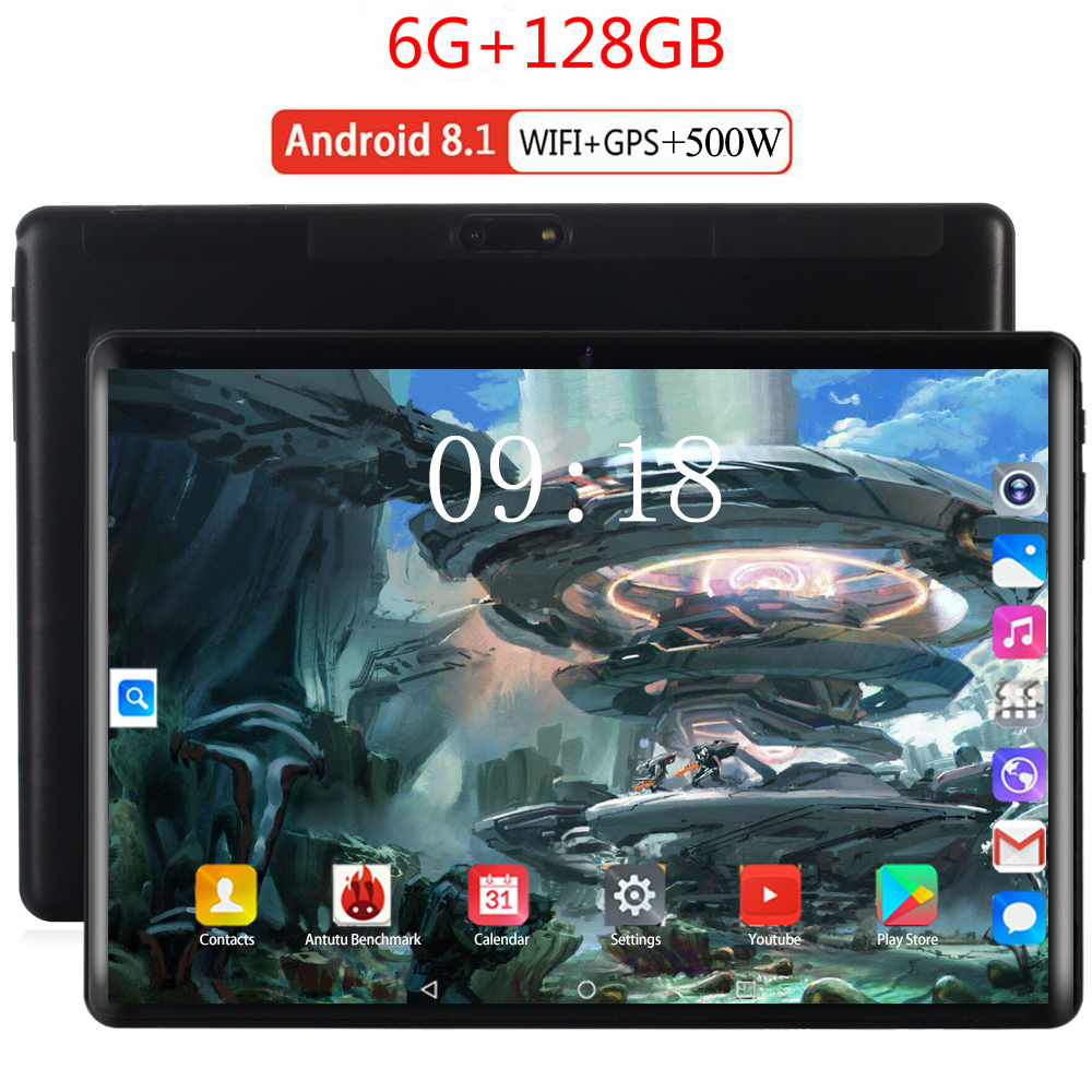 2020 New Kids Tablet Mutlti Touch 4G Android 8.0 8 Core Google Store The Tablets 6GB RAM 128GB ROM WiFi GPS 10 Inch Tablet