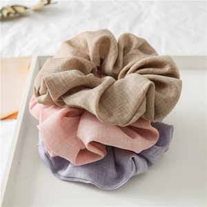 Women Hair Accessories Solid Color Hair Ties Scrunchies Soft Fabric Ponytail Holder Scrunchie Hair Rope Headwear For Women Girls