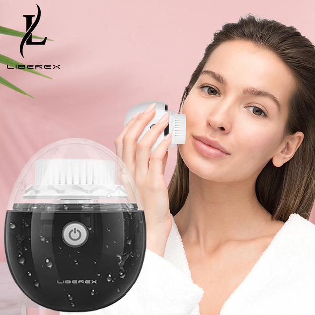 Liberex Powered Electri Facial Cleansing Devices 60s Deep Face Cleaning Massager Brush Sonic Portable Special for Men Women 1