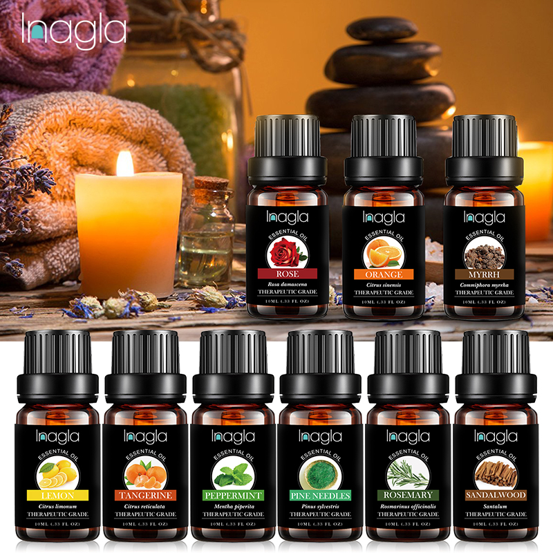 Inagla 10ML Lemon Essential Oils 100% Pure Natural Hot Pure Essential Oils For Aromatherapy Diffusers Lemon Oil Home Air Care