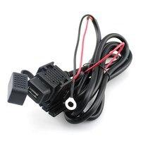 Cargador USB rápido para motocicleta 2.1A, accesorios de motocicleta, adaptador montado en vehículo con fusible en línea para teléfono móvil