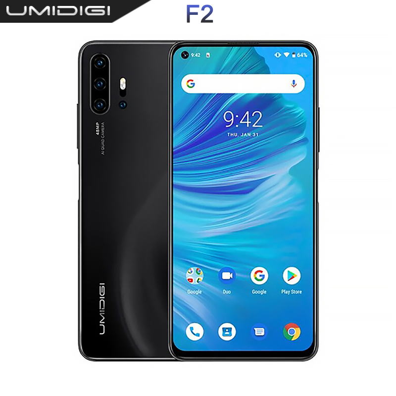 "UMIDIGI F2 Global version 6GB 128GB NFC Android 10 6.53 ""FHD 32MP Selfie Helio P70 48MP AI Quad Camera mobile phone 5150mAh"