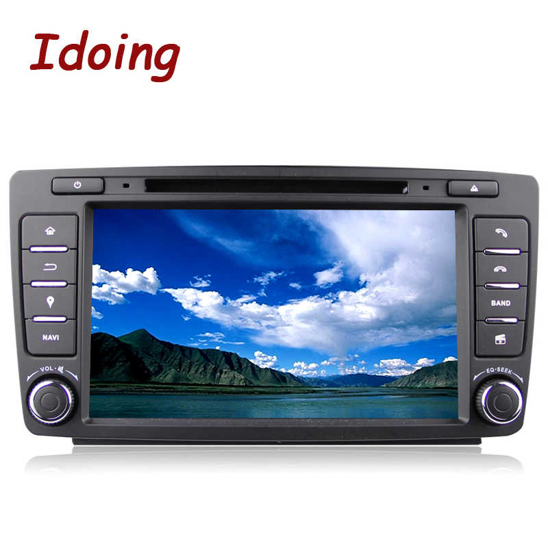 Idoing 2Din Volante Car Dvd Multimedia Video Player per Skoda Octavia 2 Android7.1Car Gps di Navigazione 4Core 2G + 16G 3G Wifi