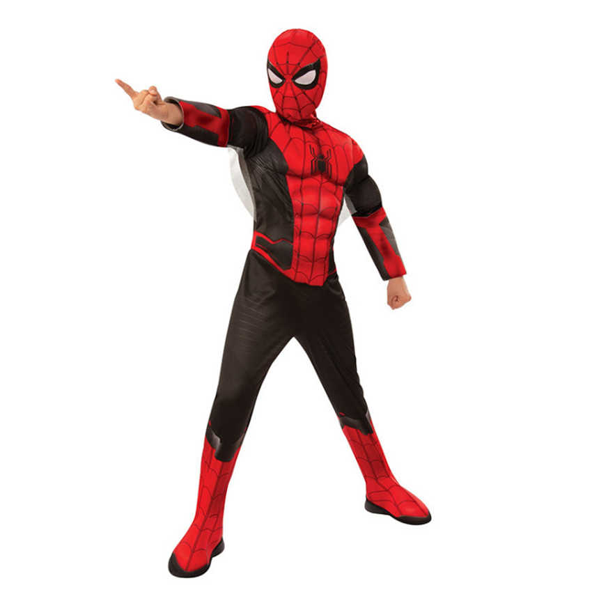 Kinderen Kostuums Jongens Spier Spiderman Kostuum Ver Van Huis Movie Props Cosplay Halloween Kostuum voor Kinderen Fancy Party Dress Suits