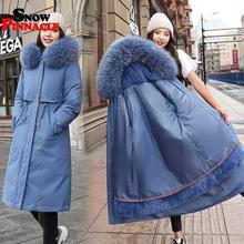 -30 degrees winter parkas jackets coat fur inside women Casu