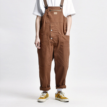Jumpsuit Man Overalls Joggers Cargo-Pants Streetwear Hip-Hop Japanese-Style Men Fashion