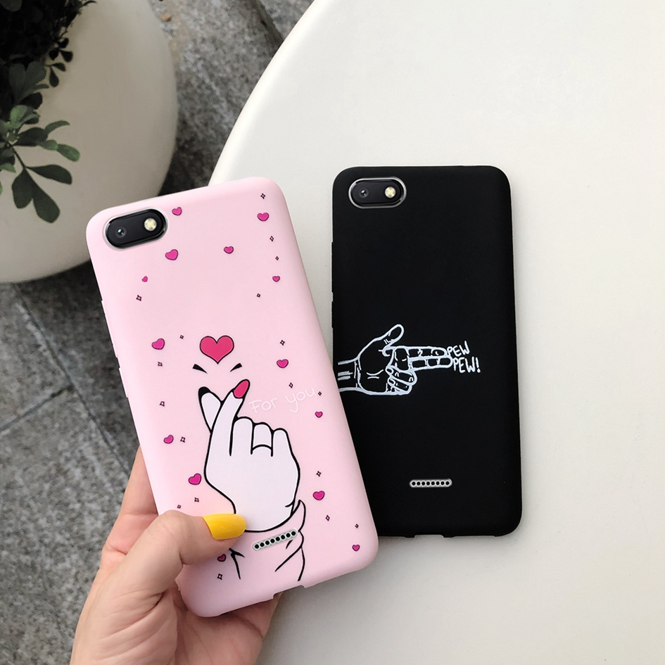 For <font><b>Xiaomi</b></font> <font><b>Redmi</b></font> <font><b>6A</b></font> <font><b>Case</b></font> <font><b>Cover</b></font> Soft Silicone Cat Cactus Love Heart Letter Phone <font><b>Cover</b></font> <font><b>Case</b></font> For <font><b>Xiomi</b></font> <font><b>Redmi</b></font> <font><b>6A</b></font> <font><b>6</b></font> A A6 Phone Funda image