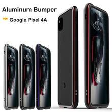 Für Google Pixel 4A fall Ursprüngliche Glänzend Aluminium Legierung Metall Stoßstange schutz abdeckung für Google pixel 4a 5g fall metall rahmen