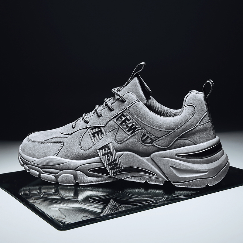 Men's Casual And Comfortable Sports Shoes 2019 New Solid Color Fashion Trend With Men's Shoes Wear Outdoor Running Shoes