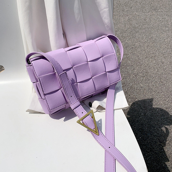 Luxury Weave PU Leather Crossbody Bags For Women 2020 Small Shoulder Bag Travel Cute Handbags Lady New Cross Body Bag