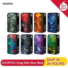 Voopoo Drag Mini Vape Box Mod 4400Mah Встроенный аккумулятор 117W выход положить 510 вапорайзер с резьбой электронные сигареты