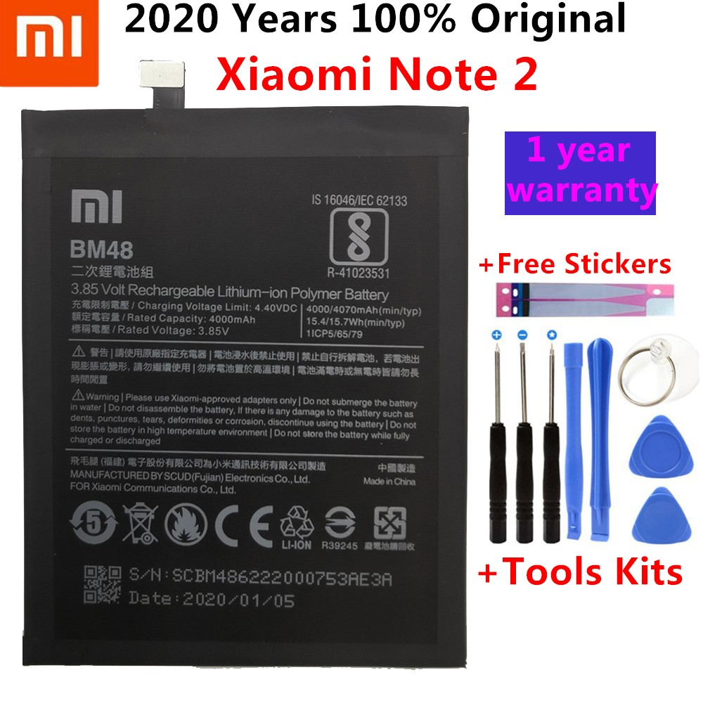 Original Phone Battery For Mi Note2 Battery Xiaomi Mi Note 2 BM48 Batteries Bateria For Xiaomi Note2 + Gift Tools +Stickers