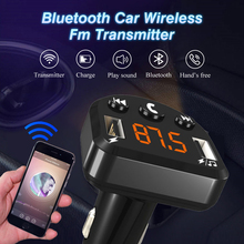 ECH8 Car Charger Hands-free FM Transmitter Bluetooth Car Kit LCD MP3 Player Dual USB AUX Player Car Phone Charger for iPhone
