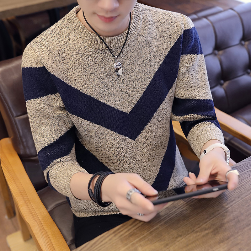 High Quality Men's Sweater Casual Striped Warm O-neck Harajuku Homme Pullovers Plus Size M-3XL Male Clothing Fashion Sweaters