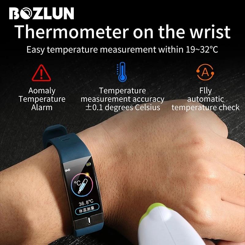 Bozlun E66 Men Women Smart Bracelet Temperature Ecg Ppg Monitor Smartband Fitness Tracker Clock Reloj Hombre For Android Ios Women S Watches Aliexpress