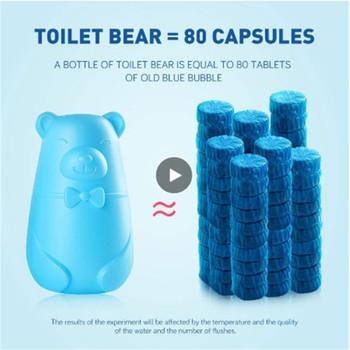 180 dzień dezodorant toaletowy odświeżacz zbiornik Cleaner dezodorujący bańka kanalizacja toaleta środek czyszczący 1 Tablet łazienka toaleta TSLM1 tanie i dobre opinie 1 pc 250 ml 200 grams blue green 1* toilet cleaner