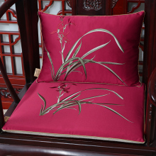 New Jacquard Orchid grass Seat Cushion Sofa Chair Pad Chinese style Silk Mats Home Decoration Armchair