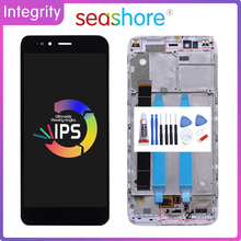 5.5Original For XIAOMI MI A1 LCD Display Touch Screen Digitizer For Xiaomi MiA1 Display with Frame Replacement Mi5x MI 5X LCD for xiaomi mi a1 lcd display mia1 mi5x mi 5x touch screen digitizer with frame replacement parts for xiaomi mi a1 lcd 5x display