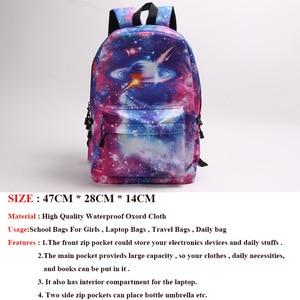 Image 2 - Galaxy Zaino Per Le Ragazze Adolescenti Ragazzo Universo Planet Sacchetto di Scuola di Scuola Studente di College Zaino del Sacchetto di Libro Delle Donne Degli Uomini Borse Da Viaggio