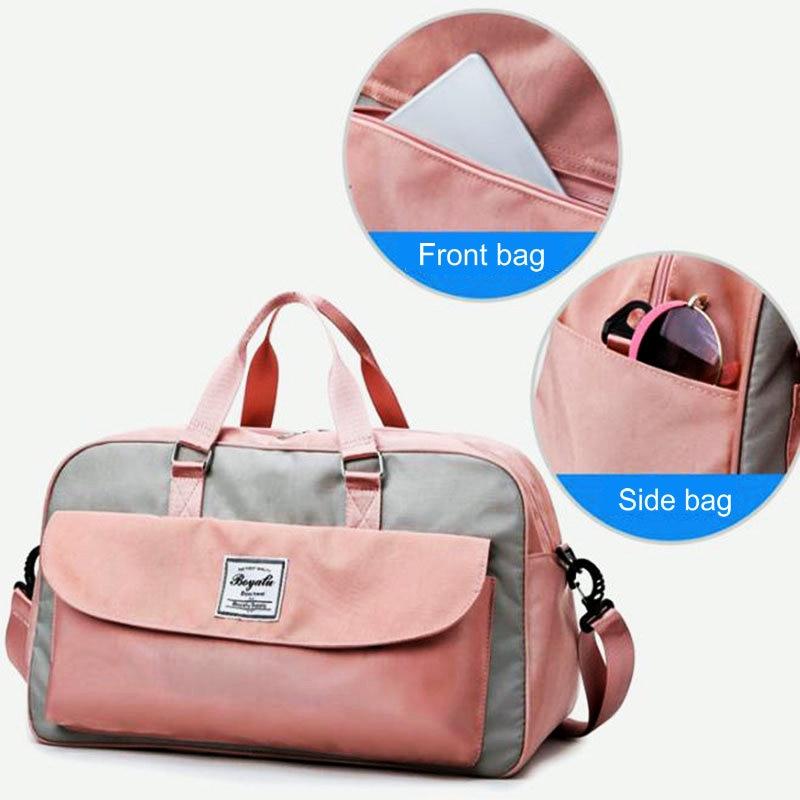 Women Travel Sport Duffel Bag Oxford Men Gym Training Bag Outdoor Travl Sports Carry On Gym Bag Large Capacity Yoga Storage Bags