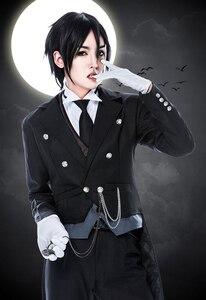 Image 3 - Disfraz de Anime Black Butler 2 Kuroshitsuji Sebastian Michaelis, uniforme Unisex