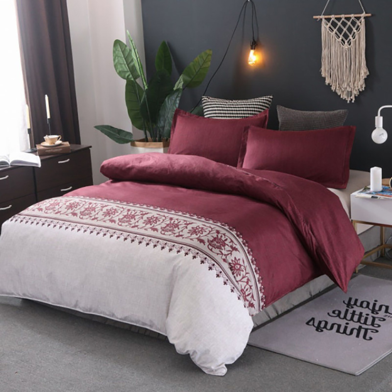 Yimeis Queen Bedding Set Printing Duvets And Linen Sets Modern Bed Linen With Elastic Band  BE45023