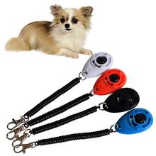 Pet Cat Dog Training Clicker Plastic Dogs Click Trainer Aid Too Adjustable Wrist Strap Sound Key Chain dog Repeller(China)