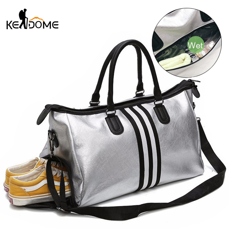 PU Leather Sports For Fitness Yoga Bags Women Travel Sport Handbag Crossbody Waterproof Training Gym Bags Shoes Storage XA932WD