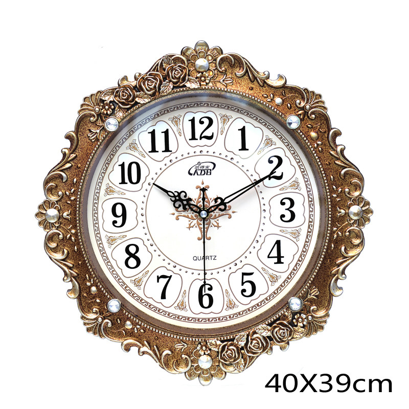 European 3D Wall Clock Vintage Retro Shabby Chic Living Room Creative Antique Home Secret Stash Horloge Mural Home Decor SC214