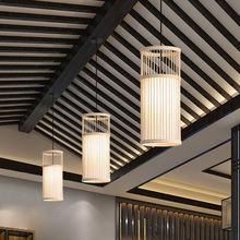 Китайская художественная бамбуковая Подвесная лампа для пасторального