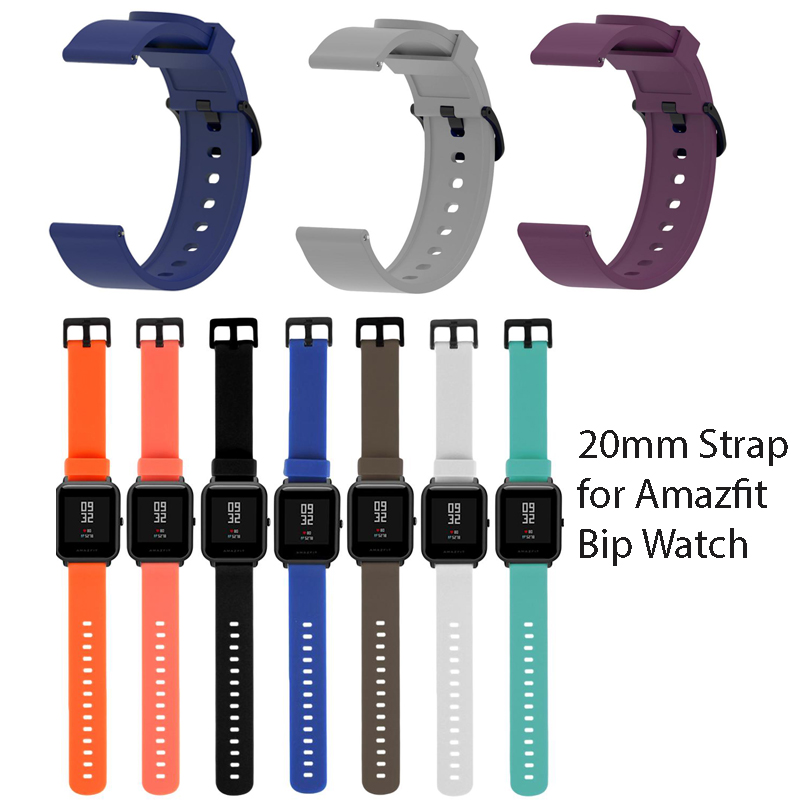 Duoteng Strap for Xiaomi Huami Amazfit Bip Youth Smart Watch 20mm Watchband for Samsung Galaxy Watch 42mm Replacement Bracelet