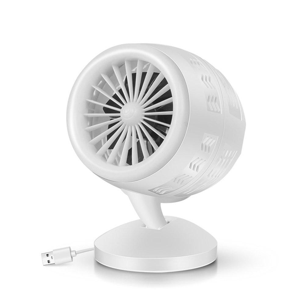 Air Conditioner Mute Convection Air Circulation Desktop Mini Fan Portable Small Fan Double Leaf Turbo Fan Portable Durable