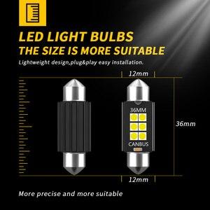 Светодиодные лампы DXZ C5W C10W, 10 шт., Canbus Festoon-31MM 36 мм, 39 мм, 41 мм, чип 3030, без ошибок, купольная лампа для салона автомобиля, светильник для чтения 12 ...