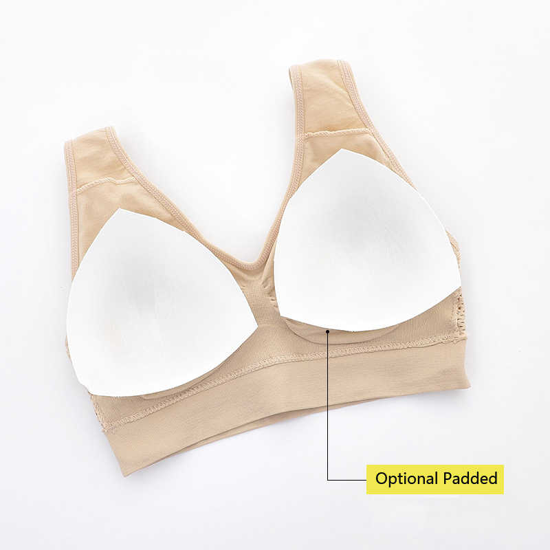 IClosam 3 חתיכות נשים חלקה Wirefree חזייה בתוספת גודל נוחה כותנה לנשימה תחתונים אלחוטי לדחוף את חזייה