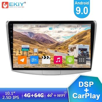 EKIY 10.1'' IPS DSP Android 9.0 Car Multimedia 4G+64G For VW Volkswagen Passat B6/B7 Magotan/CC 2012-2015 Auto Radio GPS Navi HU