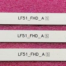 Tira Conduzida luz de fundo (6) para LG 43LF510V 43LF5100 43LH520V 43LH5100 43LJ515V 43LH510V 43LH570V 43LH511T 43LH51_FHD_A B LF51_FHD_A