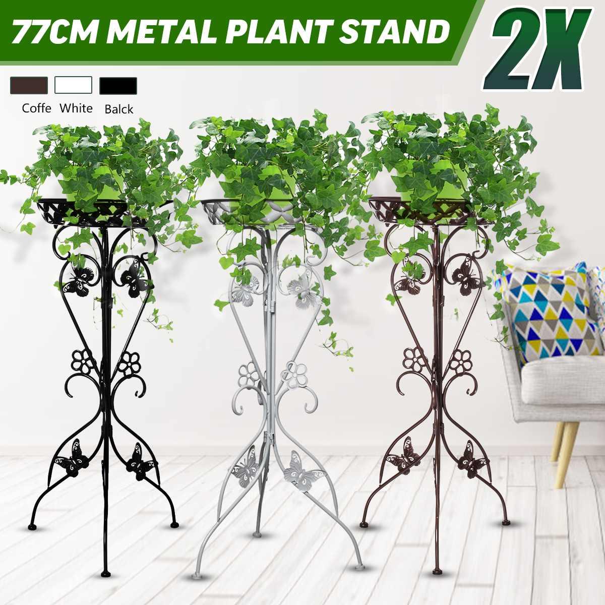 2pcs European Wrought Iron Flower Shelf Rack Home Floor-style Living Room  Flower Pot Shelf Multi-layer Indoor Plant Stand