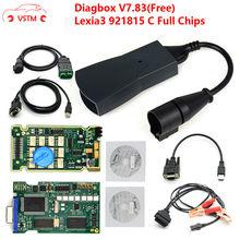 Chips de ouro edge lexia3 pp2000 psa xs, evolução diagbox v7.83 lexia para citroen/peugeot super firmware 921815c lexia 3 3